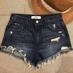 Like New • Hollister • Distressed High Rise Shorts